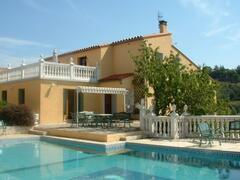 Property Photo: Villa terrace & pool