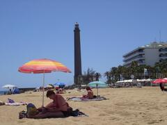 Maspalomas beach and lighthouse