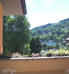 Terrace overlooking the Lake