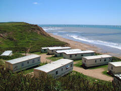 Property Photo: Static Caravans right down by the beach!
