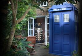 Property Photo: The Tardis amd the Dalek!