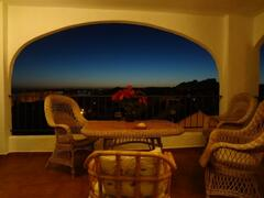 Property Photo: Sunset from the terrace