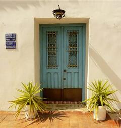 The traditional front door