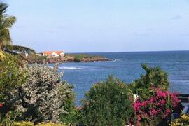 A view across the bay from the villa