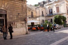 and the local cafè, in via Palmieri