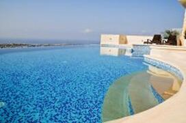 Property Photo: Roman steps to infinity swimming pool and Jacuzzi/spa