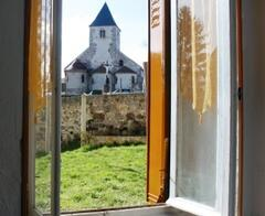 Property Photo: View of church through lounge window