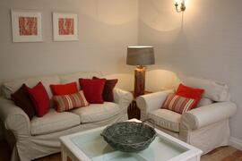 Property Photo: Living Room, T.V with Freesat and Wifi in a comfy and airy room.