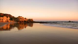 Sun set Galé Beach.