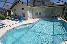 Property Photo: Enlarged Screened Pool