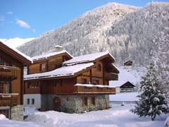 Property Photo: traditional Swiss Chalet in lovely alpine setting