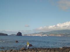 view from Casa da Barca.  wonderful views of the Ocean towards Faial Island