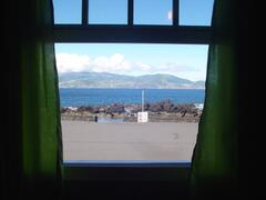 view from the livingroom, Casa da Barca.  Steps to the Ocean Filled Natural Swimming pool