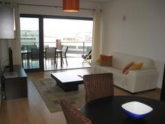 Living/Dining Room, patio doors to lovely Terrace
