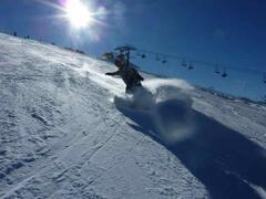 Snowboarding at Campo Felice