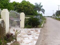 outside gated house