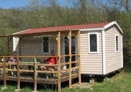 Property Photo: Mobile home with wooden terrace