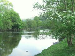 The beautiful River Wye is just a short walk across a field