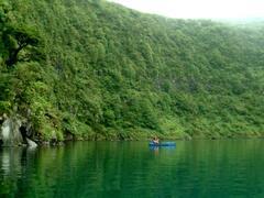 Kayaking in crater lake