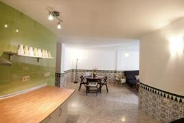 Panoramic view of dining area from kitchen