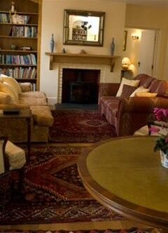 The large lounge at Honeymead Farmhouse