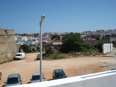 City wals view from terrace