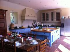 large Aga kitchen