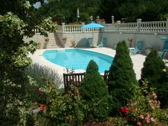 Property Photo: The pool seen from the dining terrace