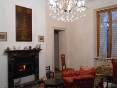 Property Photo: The fireplace in the dining room