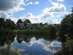 Pingo-Houses by the lake