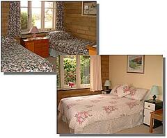 One double and one twin bedroom with views to hills. Quality linen and furnishings, electric blankets, radios.
