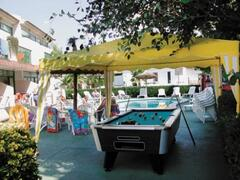Games area by the pool