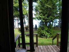Picture taken from the patio door showing how close you are to the lake