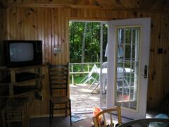 Looking out the back of the cottage