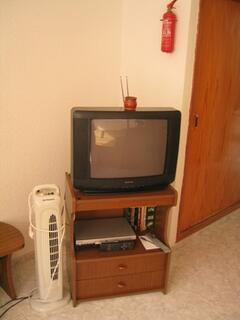 TV, DVD player with dvds
