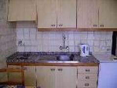 Kitchen with microwave, oven, toaster etc etc