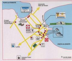 map of city center vulcano