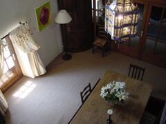 galleried dining room
