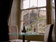 Property Photo: View of Edinburgh Castle from the living-room