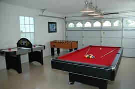 Property Photo: Games room with full size pool table.