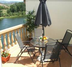 Property Photo: Private terrace with views over the river