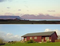 Property Photo: Lodges and view of Rum and Eigg from the Lodges
