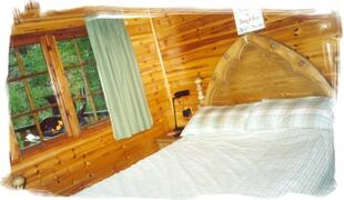 Sturdy and comfy double bed.