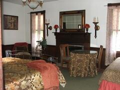 King bedroom on main level w xtra twin