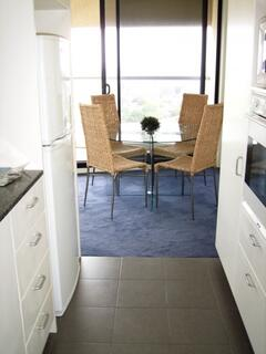 kitchen through to dining