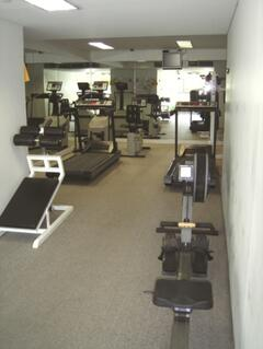 part of well equipped gymnasium