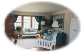 Property Photo: Living room of Lighthouse Suite