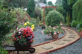 A section of our award winning garden