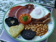 A welsh breakfast from our menu