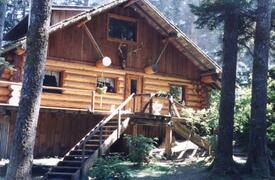 Property Photo: Main log lodge in Kodiak, Alaska